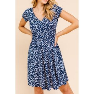 Surplice Fit and Flair Dress